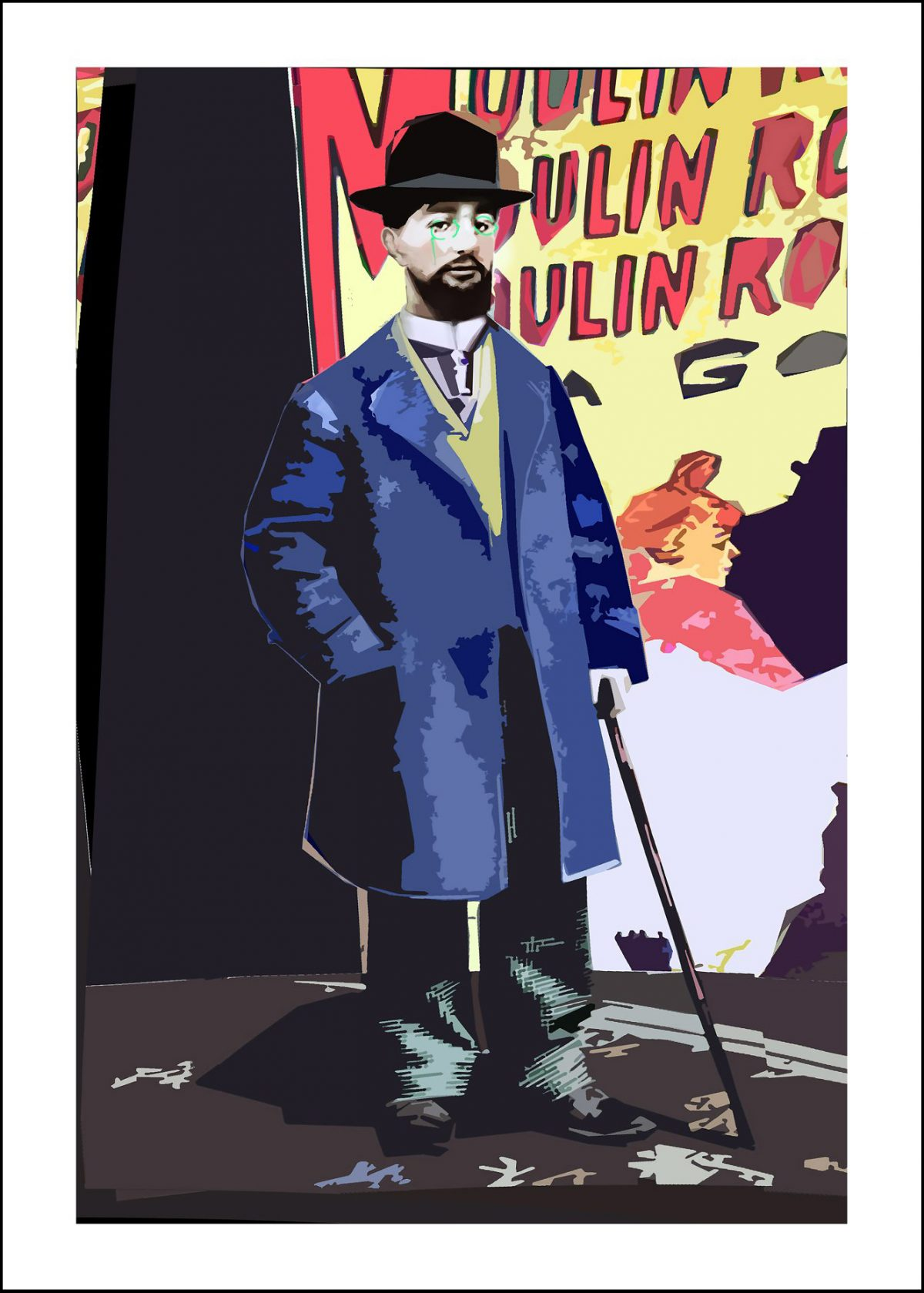 Toulouse Lautrec, 50×70, digital print, 2018