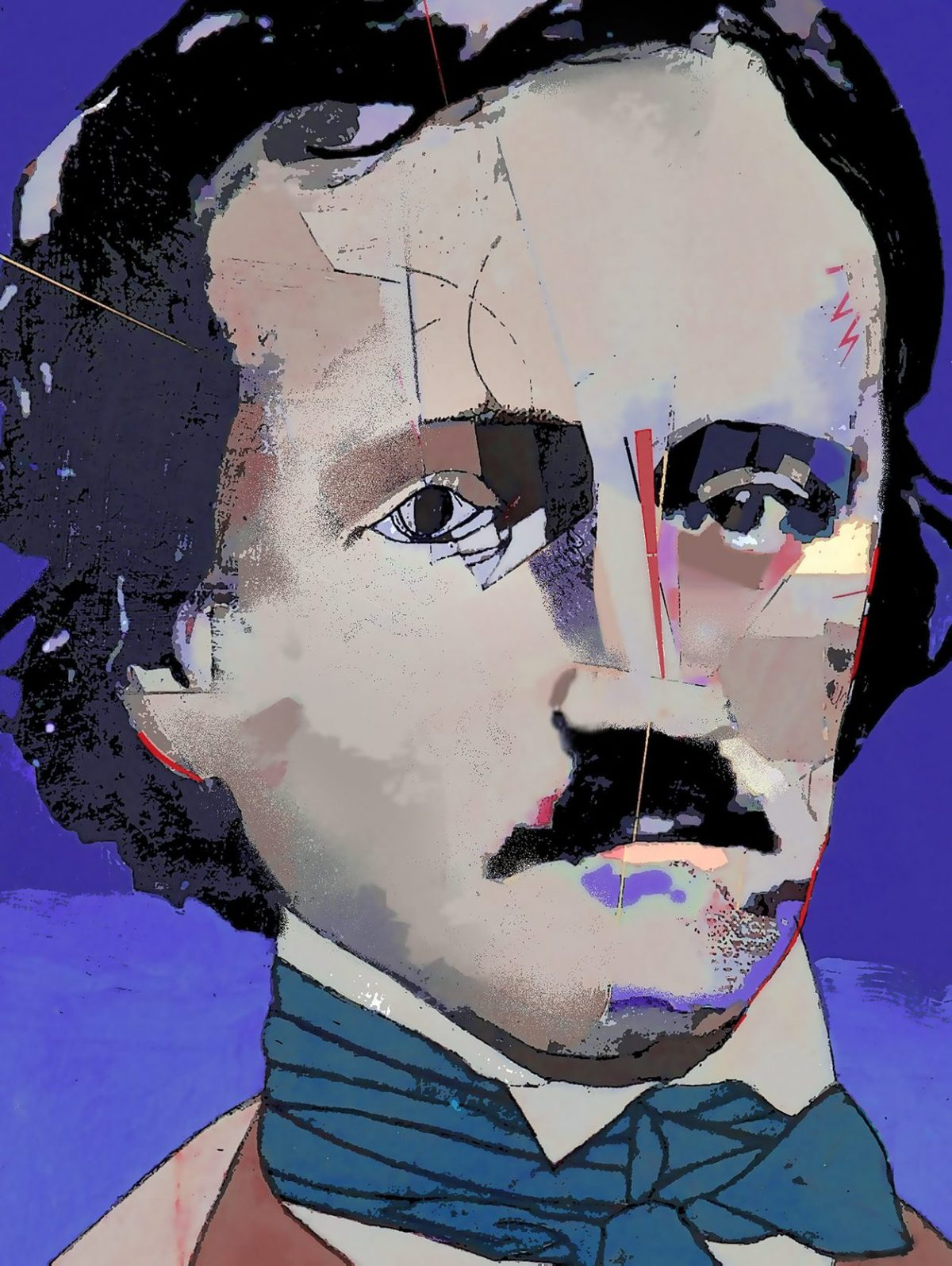 Edgard Allan Poe, digital print, 52×72, 2018